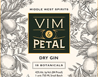 Middle West Spirits Label Illustrated by Steven Noble