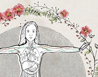 Frauen Gesund. Editorial Illustration