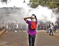 Manifestación de estudiantes de la UCV 4 de mayo