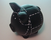 black pig money box