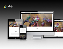 Holi - One Page responsive website