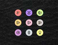 Dark Glyph Icon Set