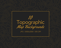 10 Topographic Map Backgrounds