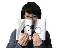 Cloth Book Cover -Folding Fan-