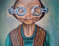 StarWars character - canvas, acrylic