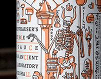 Professor Knopphauser's Chilli Sauce - Label design