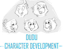 '' DUDU '' character development sketches
