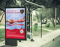 Poster for local blood donation campaign