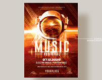 Futuristic Music Poster - Photoshop