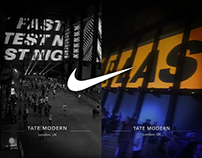 Nike London's Fastest - Tate Modern Projection Mapping