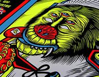 The Claypool Lennon Delirium: Gig poster