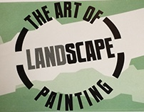 The Art of Landscape Painting Japanese stitched book