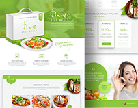 FiveStar Meals: Website and UX Design