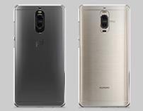 Huawei Mate 9 Pro UV PC Case Mockup Back