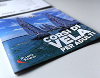 Trifold square brochure for Compagnia della Vela