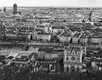 Lyon in black and white