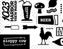 The Sloppy Cow Branding