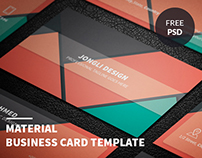 Material Business Card Template (Freebie)