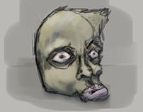 Piece of head