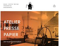 Atelier Presse Papier - Nouveau site web