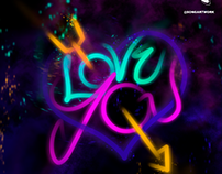 LOVE YOU - NEON LETTERING // @SONGARTWORK