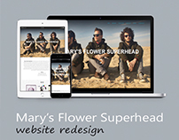 Web Design for the band Mary's Flower Superhead