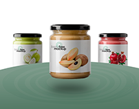 Free PSD 3 glass jars of food mockup