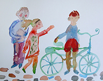 Watercolor people