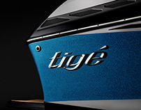 Tigé RZX wakeboarding boat studio photo shoot