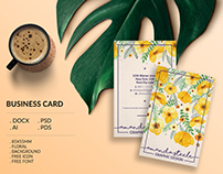 Floral business card template / creative / card design