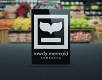 ROWDY MERMAID KOMBUCHA MARKETING MATERIALS