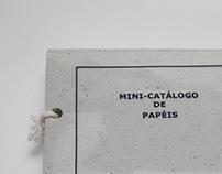 Mini-catálogo de papéis