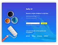 Dailyui #100 Redesign dailyui landing page