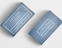 Fashion Designer Minimal Business Card Template