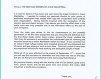 9/11/01 WTC Recovery Con Edison Commendation Letter