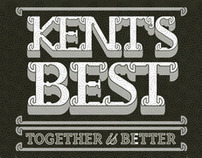 'Kents best' beer bottle label