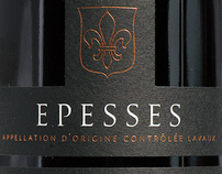 Epesses wine label