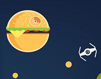 Death Star Hamburger - Étoile Noire Hambuger