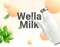 Wella Milk | Healthy Food Landing page