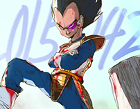 2015 DAILY ILLUST - DRAGON BALL (END)