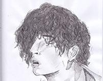 Pen Sketch, Matthew Timothy Healy