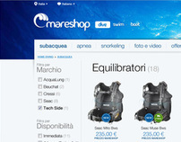 Mareshop - Restyling website