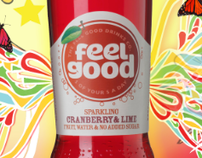 Feel Good Drink Poster Illustration