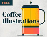 Coffee Illustration Package (FREE OUTLINE VERSION)