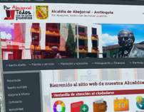 Interfaz gráfica para la web de Abejorral Antioquia