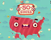 50 states | game art