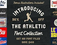 The Athletic Font Collection - 96% Off