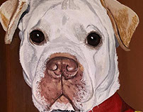 Thats Mister Dog to you. - Commission painting