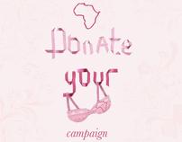 Bra donation campaign