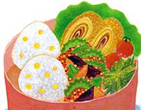 Illustration of BENTO -Japanese box lunch-